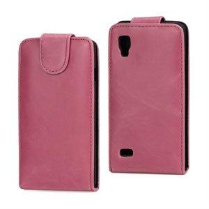 Image of LG Optimus L9 taske/etui med flip - pink