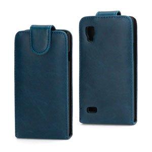 Image of LG Optimus L9 taske/etui med flip - blå