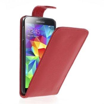 Billede af Samsung Galaxy S5/S5 Neo Flip Cover Taske/Etui - Rød