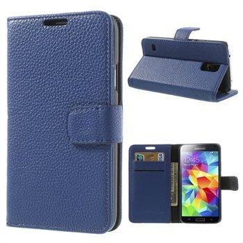 Billede af Samsung Galaxy S5/S5 Neo FlipStand Taske/Etui - Mørk Blå