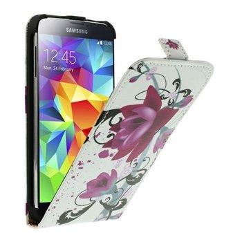 Billede af Samsung Galaxy S5/S5 Neo Flip Cover - Lotus Flowers