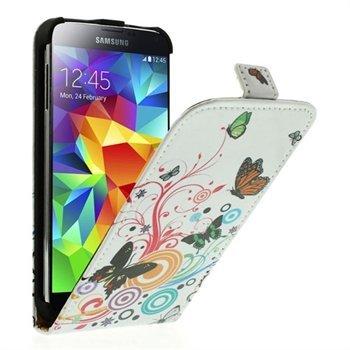 Billede af Samsung Galaxy S5/S5 Neo Flip Cover - Vivid Butterfly