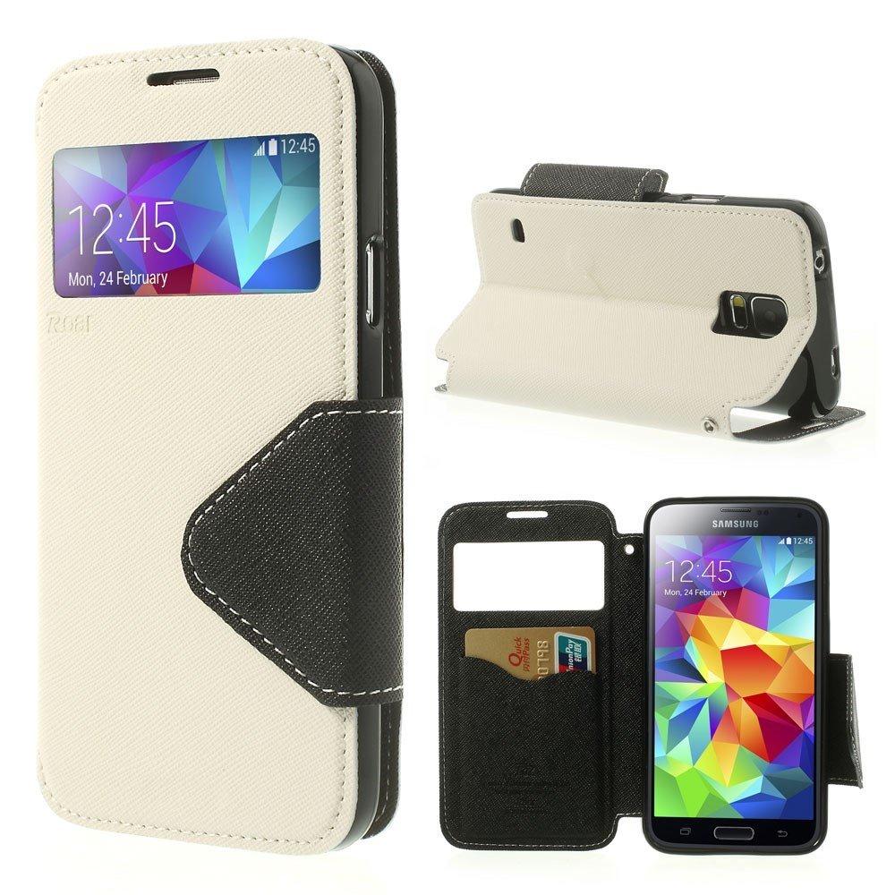 Billede af Samsung Galaxy S5/S5 Neo S-View Flip Cover - Hvid