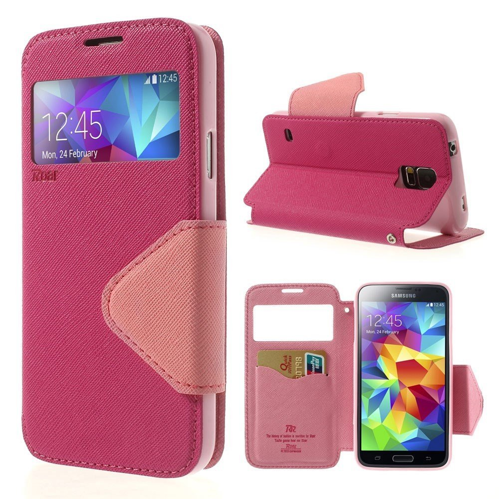 Billede af Samsung Galaxy S5/S5 Neo S-View Flip Cover - Rosa