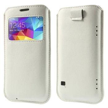 Billede af Samsung Galaxy S5/S5 Neo Window Pull Up Taske/Etui - Hvid