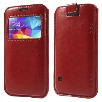 Billede af Samsung Galaxy S5/S5 Neo Window Pull Up Taske/Etui - Rød
