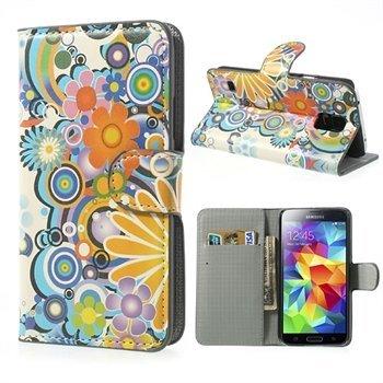 Billede af Samsung Galaxy S5/S5 Neo FlipStand Taske/Etui - Flower Power