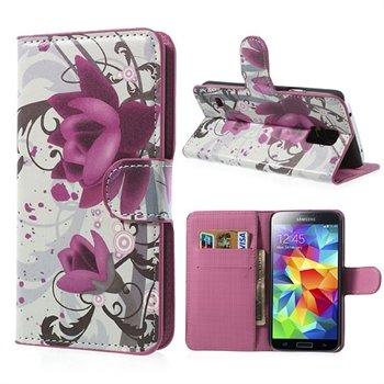 Billede af Samsung Galaxy S5/S5 Neo FlipStand Taske/Etui - Lotus Flower