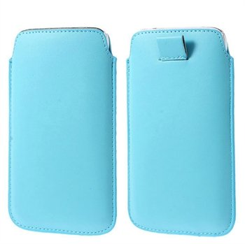 Image of   Samsung Galaxy S5/S5 Neo Pull Up Taske/Etui - Lys Blå