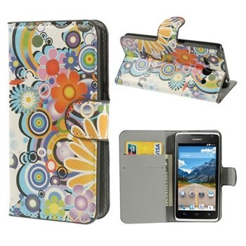 Image of Huawei Ascend Y530 Flip Cover Med Pung - Flower Power