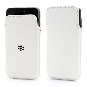 Image of BlackBerry Z10 Pouch Taske/Etui - Hvid Carbon