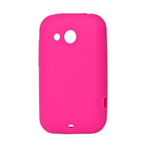 Image of HTC Desire C Silikone cover fra inCover - rosa