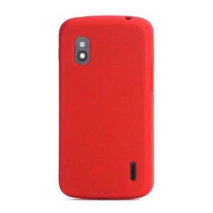 Billede af Google Nexus 4 Silikone cover fra inCover - rød