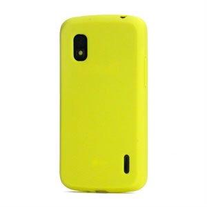 Billede af Google Nexus 4 Silikone cover fra inCover - gul