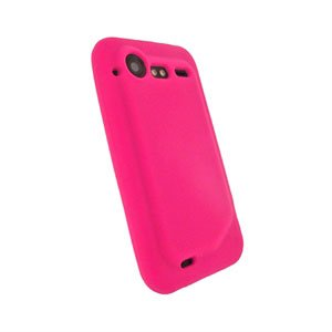 HTC Incredible S Silikone cover fra inCover - rosa
