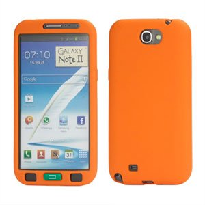 Billede af Samsung Galaxy Note 2 Silikone cover fra inCover - orange