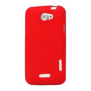 Billede af HTC One X og One X Plus Silikone cover fra inCover - rød
