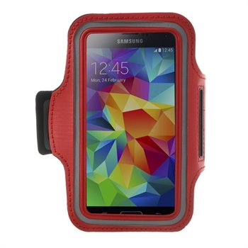 Image of   Samsung Galaxy S5/S5 Neo Sports Armbånd - Rød