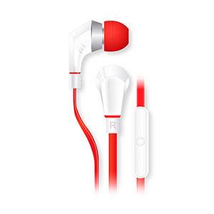 Billede af NoiseHush NX80 Hi-Fi stereo høretelefoner med mikrofon - hvid/rød