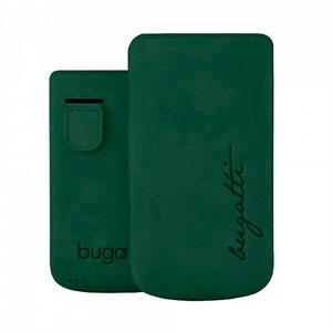 Image of   Bugatti Perfect Velvety Leather luksus mobiltaske/etui - grøn læder