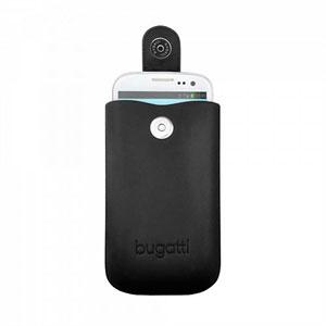 Image of   Bugatti SlimCase Leather mobiltaske/etui - sort