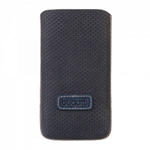 Image of   Bugatti Perfect Scale luksus mobiltaske/etui - mørkeblå læder