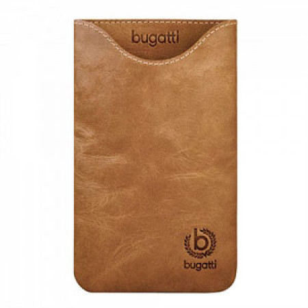 Image of   Bugatti Skinny Desert Leather luksus mobiltaske/etui - brun læder