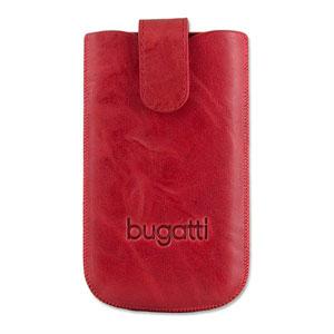 Bugatti Slimcase Leather Unique mobiltaske/etui - chili rød læder