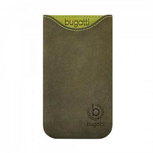 Image of   Bugatti Skinny Blooming Pine Leather luksus mobiltaske/etui - grøn læder