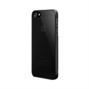 Image of   Apple iPhone 5/5S NUDE Ultra-Black fra SwitchEasy - sort gennemsigtig